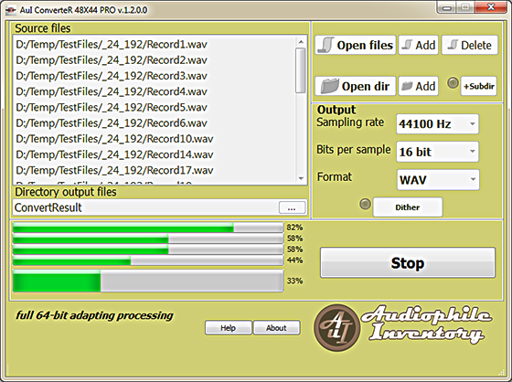 Audiophile Inventory sample rate ConverteR 48x44 v.1.1